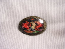 Russian Signed Minature Art  Broach