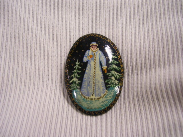 Russian Miniature  Original Signed Art Broach