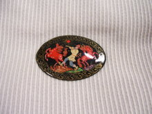 Russian Original Signed  MiniatureArt  Broach