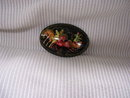 Russian Signed Miniature Art  Broach