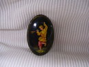Russian Artist Signed Miniature Art  Broach
