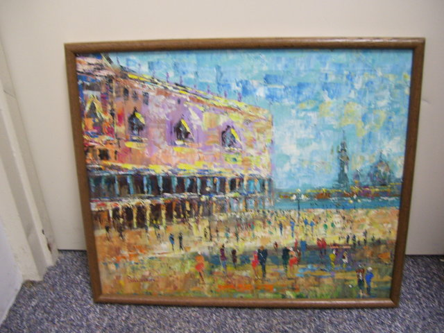 Ireland Ciyscape-Davidson - 20th century Oil/ Canvas/ Signed