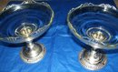 Frank M. Whiting Sterling Silver Candleholders and Candy Dish  Combination ( Pair )
