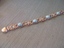 Tuquoise Bracelet -Four Stone/ Four  Stone Flower  Design