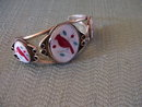 Hopi Indian Mother of Pearl Matching Cuff Bracelet and Pendant