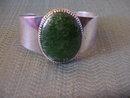 Jade-Sterling Silver Cuff Bracelet