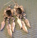 Black Onyx Earings-Leaf Design