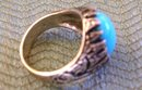 Baby BlueTurquoise Men's Ring /Silver 12.2 Grams