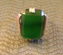Emerald Colored Ladys Sterling Silver ring