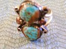 Turquoise and Silver Native American Mans Ring