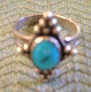 BlueTurquoise Ring Sterling Silver