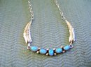 Opal (5)Row Sterling Silver Necklace