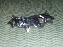 CORO-Sterling Silver-Moon and Stars Broach