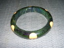 Vintage Bakelite Yellow  Polka Dot Bangle Bracelet