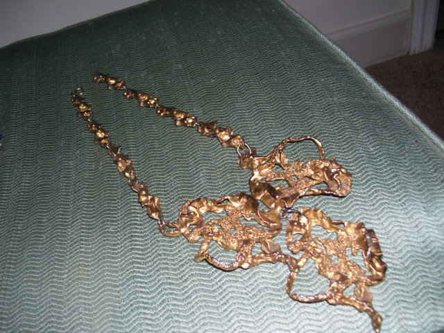Erwin Pearl-French Brass- 167 Gram-GoldTone Fashion Necklace