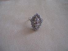 Diamond Cocktail- Ring-18 K  Gold-24 Diamonds-1 Rubbie