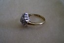 Diamond Ring-10 K  Gold Plumb--5/8'' x 1/2 '' Diamond Cluster