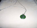18 k  Gold and Jade Pendant and 18 K. Gold Chain