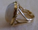 Lady's Yellow Jade  Ring-14 K  Gold ( 13.2 ) Grams