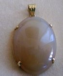 Yellow Jade  Pendant-14 K  Gold ( 17.2 ) Grams of Yellow Gold and  Yellow Jade