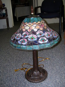 Vintage StyleTiffany Style Floral Tulip 16.25 inch Lamp