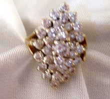 Ladys 3.00cts. Diamond Ring - 9.50 grms 14K Yellow  Gold
