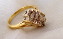 Ladys .75cts. Diamond Ring - 4.00 grms 14K Yellow  Gold