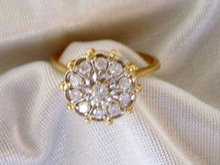 Ladys .50cts. Diamond Ring - 4.20 grms 14K Yellow  Gold
