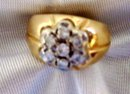 Ladys .50cts. Diamond Ring-9.40grms 14K Yellow Gold