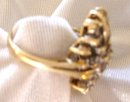 Ladys 1.50cts. Diamond Ring-5.70grms 14K Yellow Gold