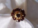 A Ladys Vintage-4.00cts-European Garnet Ring 6.80grms 14K Yellow Gold