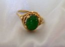 Ladys 2.40 cts. ,Beautiful dark green Natural Emerald ring/. 3.20 grams 14K yellow gold