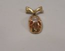 Ladys 14K Yellow gold and  Old Mine .22ct. Diamond Pendant