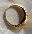 Mans  Genuine Citrine and Yellow Gold Nugget Ring