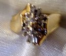 Ladys 14k Yellow Gold and Diamond Ring-Wt. 5.4 grams