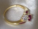 Ladys Ruby, Diamond and Gold Ring
