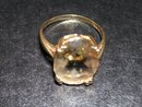 Skal- Ladys  Smoky quartz  and 14 K  Yellow Gold Ring
