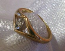 Ladys 10 K. Gold and Diamond Ring