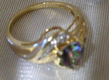 Ladys Color Change /Diamond and gold ring