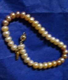 Ladys Genuine  Multi Colored Pearl Bracelet