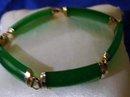 Ladys Genuine  Jade Dark Forest Green Bracelet