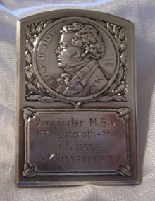 Franz Schubert- 90.0 Grams Silver Commemorative Medallion