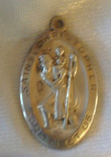Saint Christopher( Protect Us ) Pendant- 8.0 grams Elco Sterling