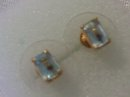 A pair ( 2 ) cts, Aquamarine and 14 KG Earrings