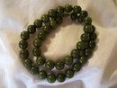 Antique Vintage lady's jade beaded necklace, 67.4 grams