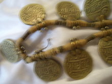 Ancient Coin Necklace ( 7 x 1.00'')  J,619 coins