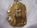 Mans large Indian Head Hand Made Pendant- Wt. 17.2 grams