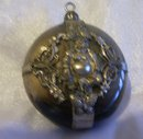 Chinese  Tibet-silver Buddha old glass pendant