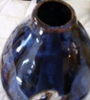A  large Ingraved art porcelain floor/table vase