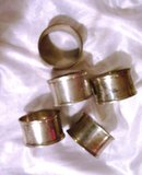 Napkin Ring Holders-A vintage set of five silverplate rings
